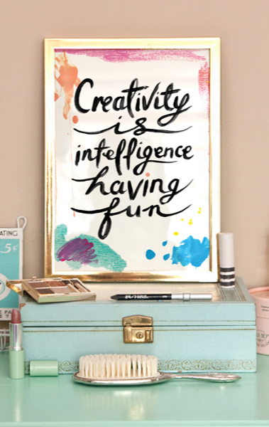Creativity Is Intelligence Having Fun. #quotes #wordy #whimseybox #art