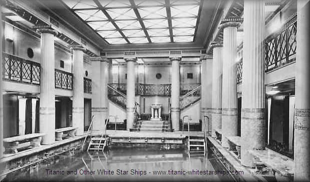 Titanic 1st class indoor swimming pool beautiful old - Did the titanic have swimming pools ...