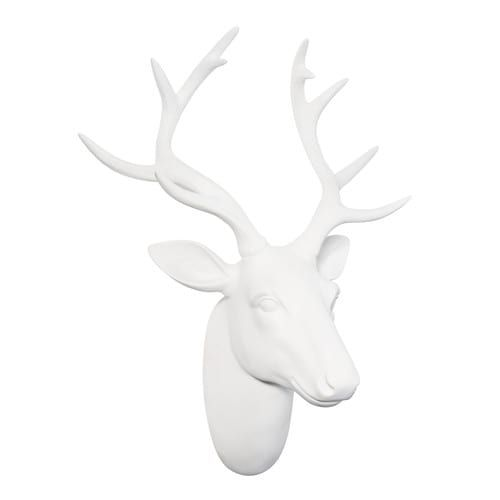 déco murale tête de cerf blanche polaire | now that's holiday