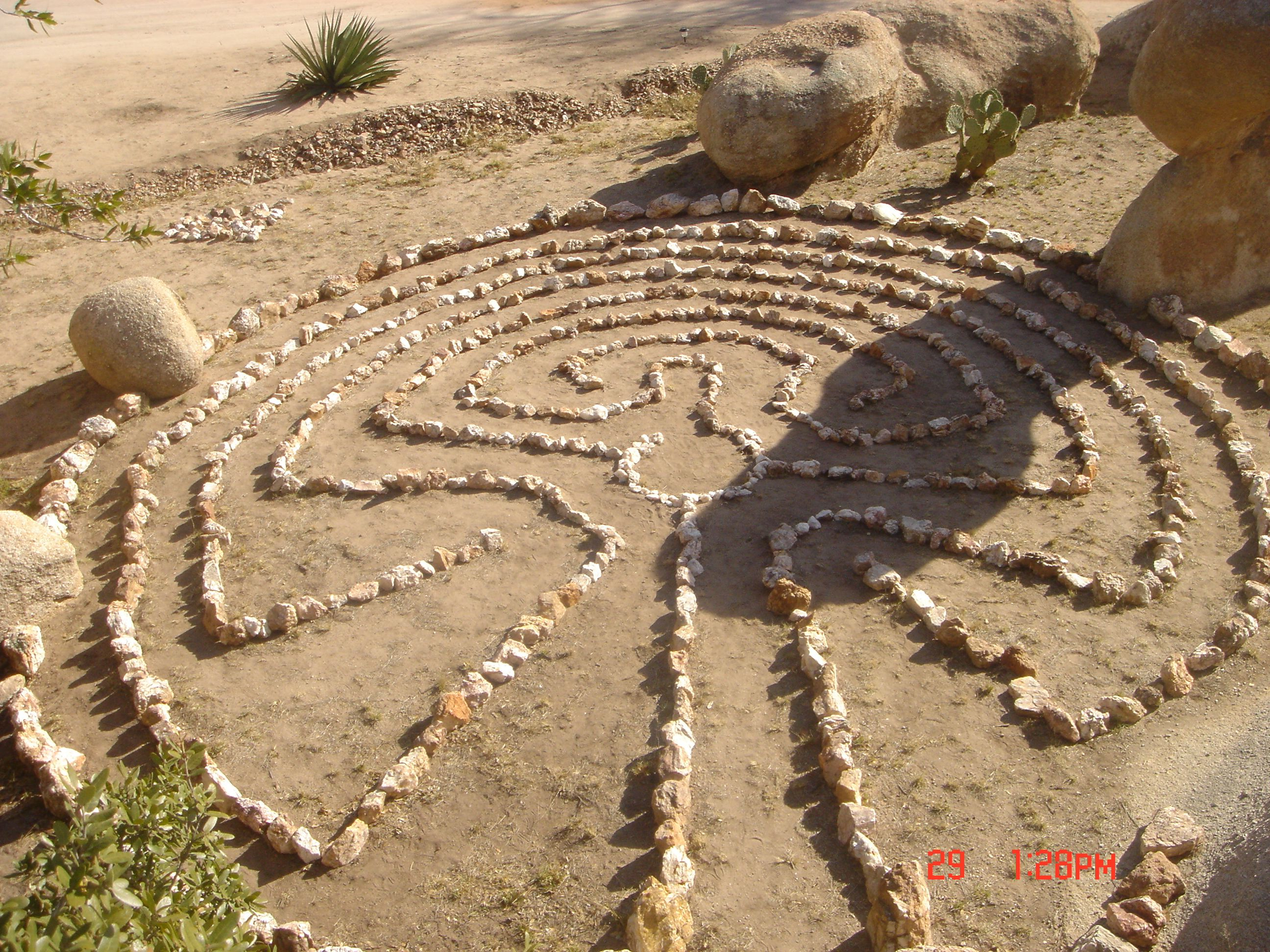 Our completed Labyrinth, Greece