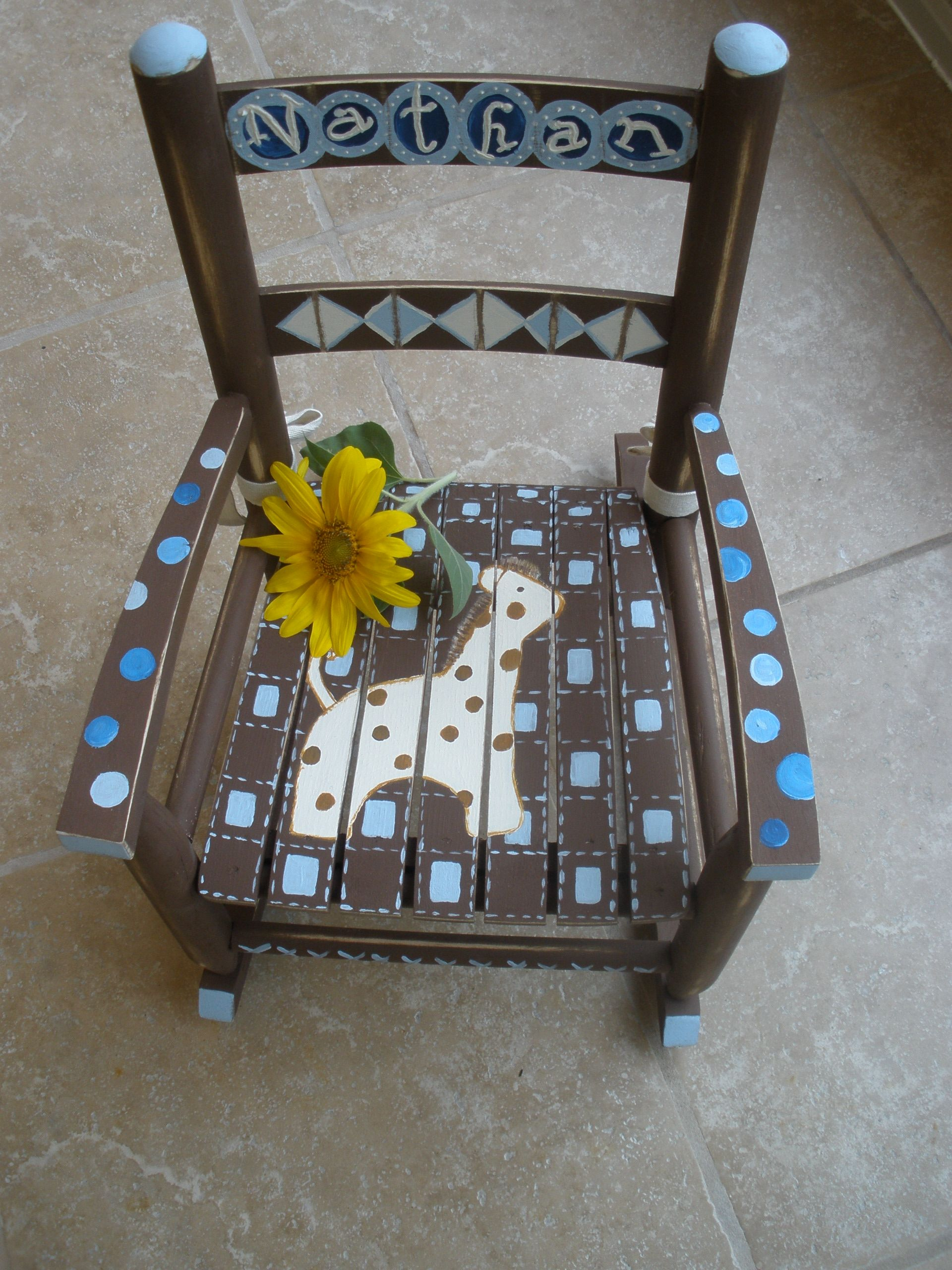 little boy chairs living room modern another rocking chair i love doing these for shower gifts