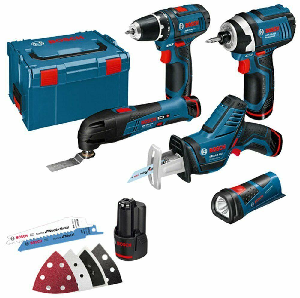Ebay Sponsored 1038004 Bosch Professional Kit 108 V Li 5 Attrezzi Valigetta L Boxx Blu Outils Outils Electriques Pose Parquet Flottant