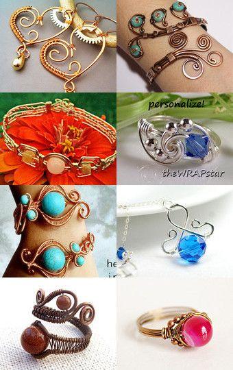 Wire Jewelry Etsy #treasury --Pinned with TreasuryPin.com