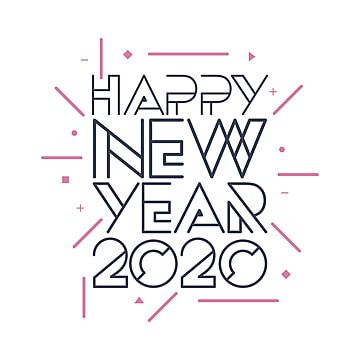 Happy New Year 2020 Typography Illustration New Icons Happy Icons Year Icons Png And Vector With Transparent Background For Free Download In 2020 Happy New Year Vector Chinese New Year Greeting