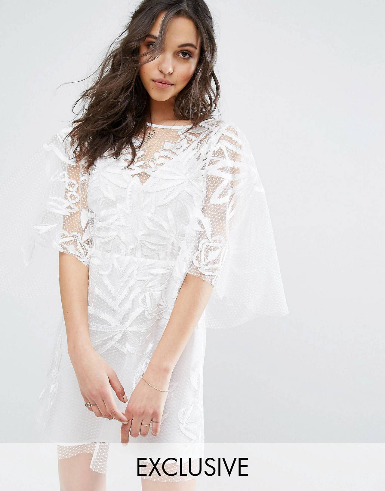Mini white wedding dress  LOVE this from ASOS  SS u  Pinterest