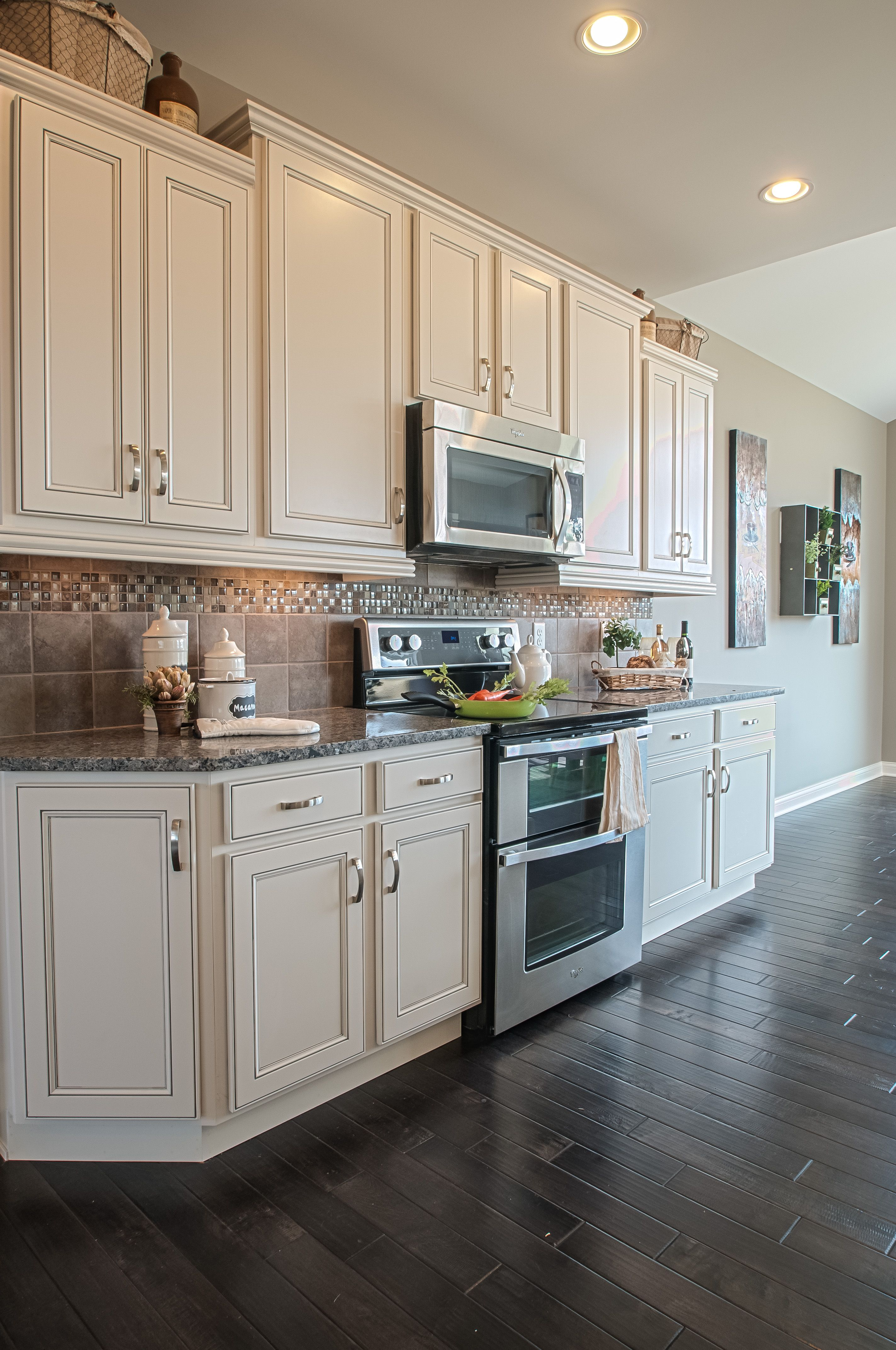 This is what my kitchen will look like WIth white cabinets and dark