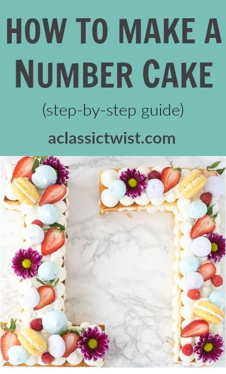 How to Make A Number Cake - Easy Step by Step Guide #numbercakes