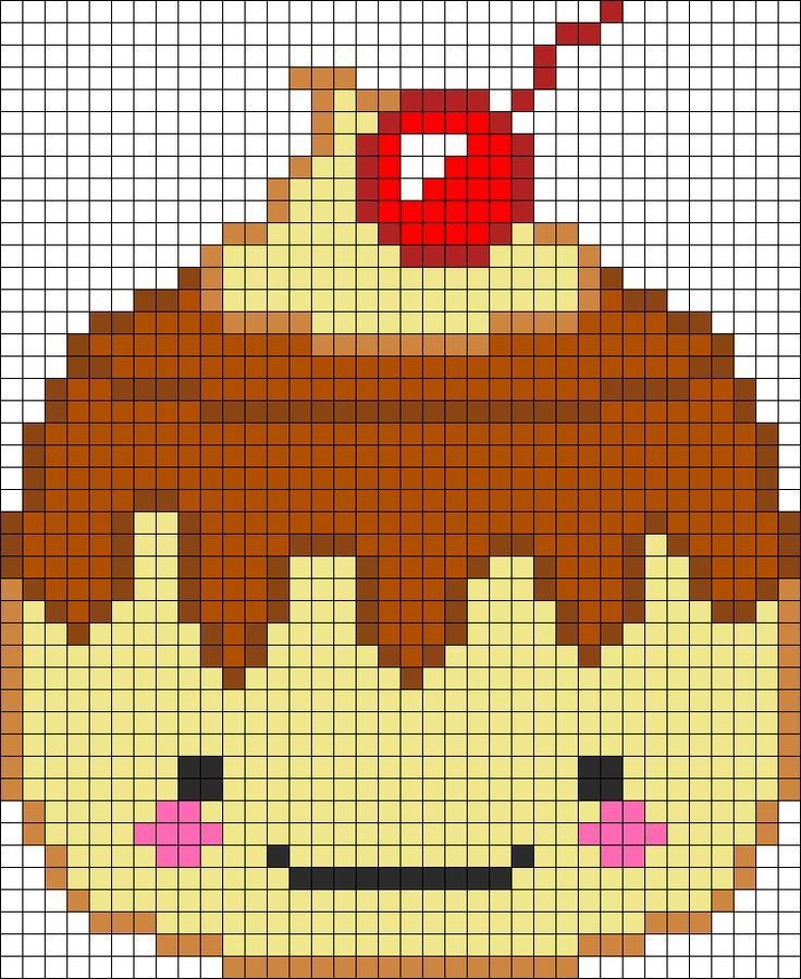Pixel Art Kawaii With Grid Junk Food Google Search