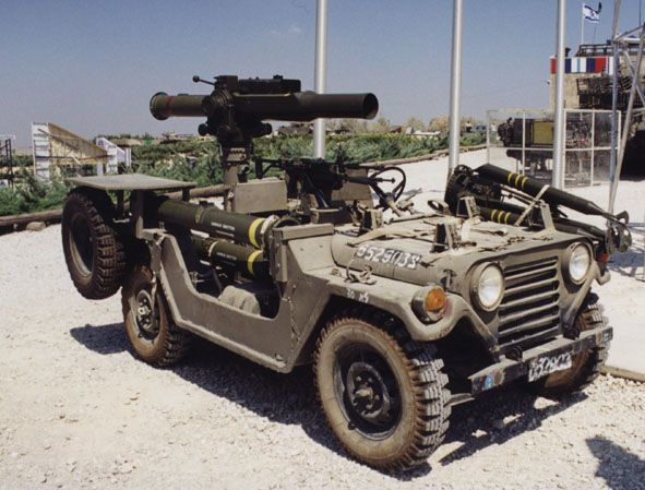 Israeli M151 Mutt With Antitank Missile Launcher Army Truck