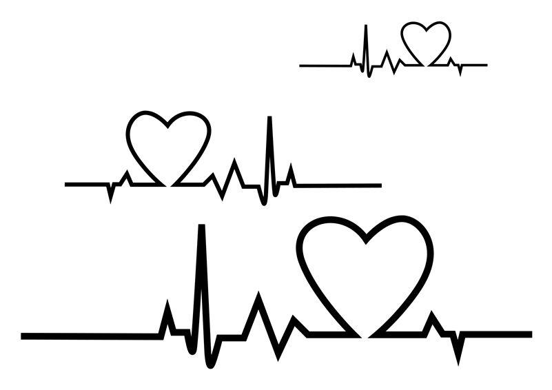 Love Decal Love Heartbeat Vinyl Decal Valentine Decal Valentine/'s Day Decal