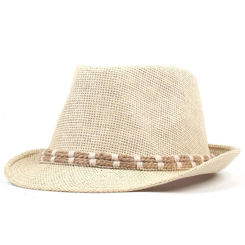 801e7b32a685d  AETRENDS  2018 New Straw Sun Hats Jazz Cap Men Women Classic Panama Caps  Derby Bowler Fedoras Hat Z-6329