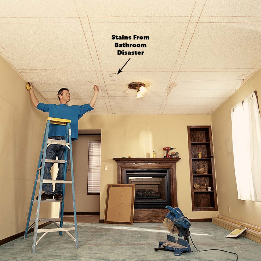 Ceiling Panels: How to Install a Beam and Panel Ceiling in ...
