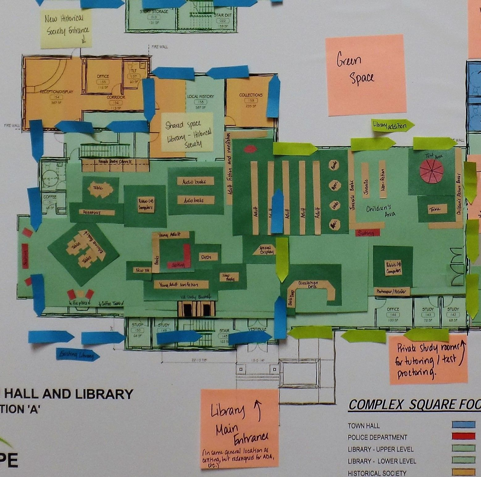 Detail Floor Plan With Added Program Space Bh Design How To Plan Floor Plans Building Plans