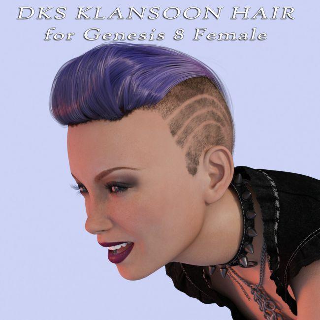 Dks Klansoon Hair For Genesis 8 Female 3d Hair Dazstudio 3dmodel