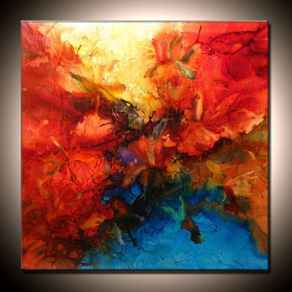 Contemporary Abstract Painting Large Original by newwaveartgallery