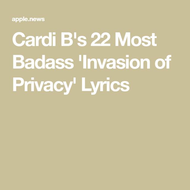 Cardi B S 22 Most Badass Invasion Of Privacy Lyrics Cosmopolitan