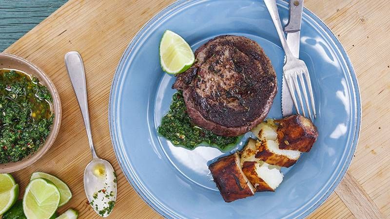 Photo of Bowery Steak with Salsa Verde and Fondant Potatoes