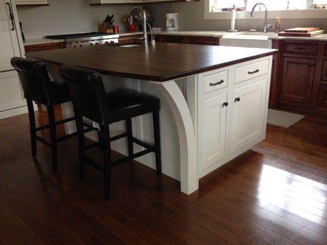 Wood countertop island overhang - Kitchens Forum ...