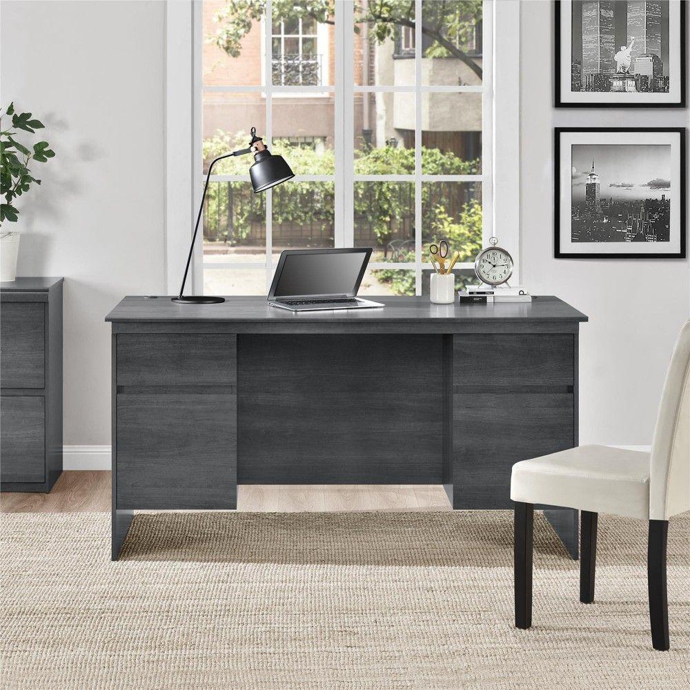 Chapman executive desk weathered oak room joy