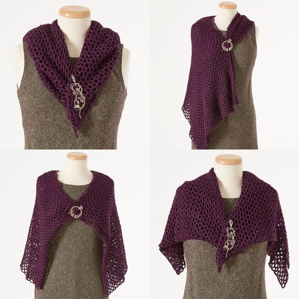 More Than 10 Ways to Style a Wrap with Shawl Pins | Ways to Wear