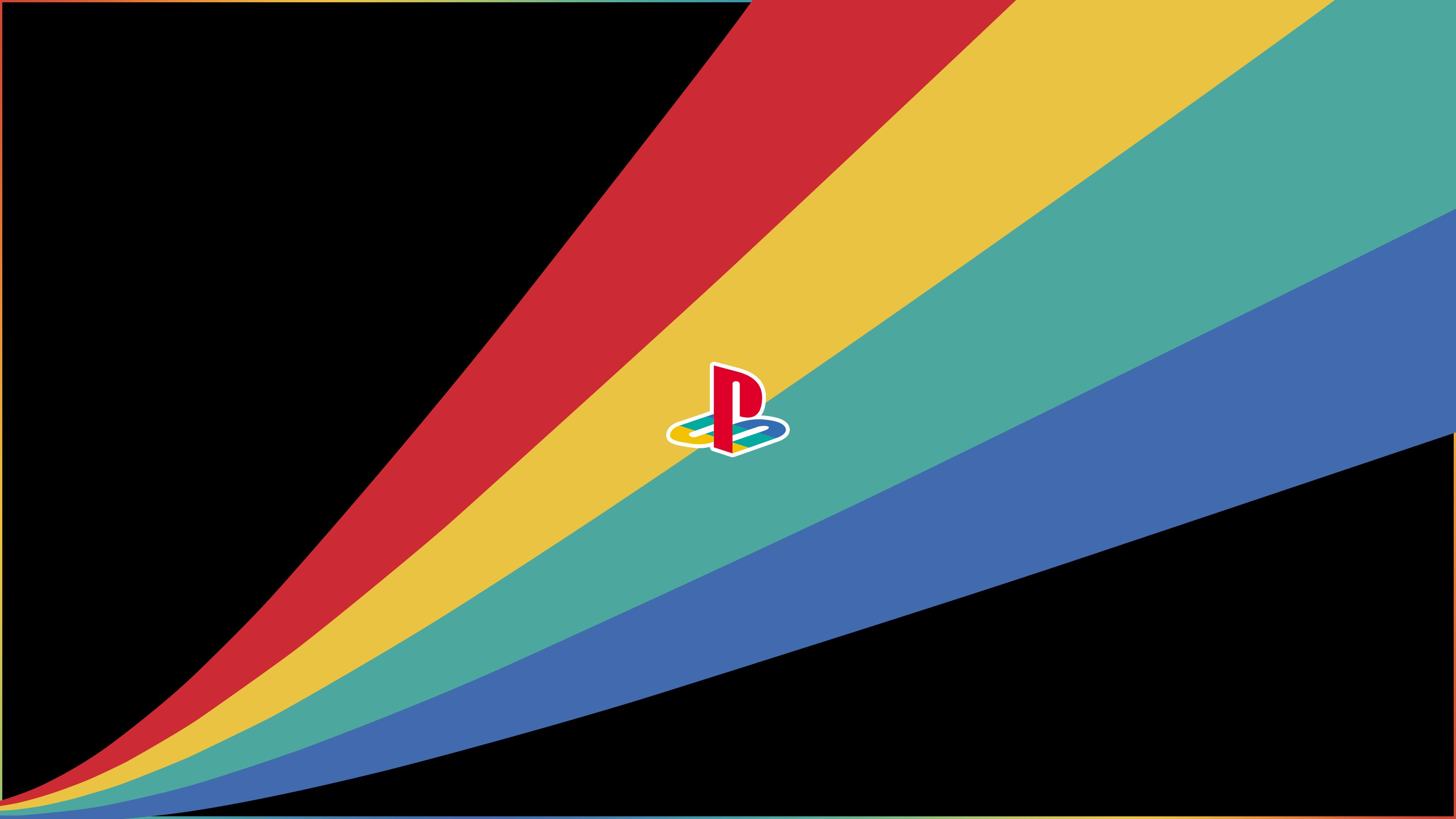 Playstation Minimalist Curve Burst 3840x2160 R Wallpaper Wallpaper Desktop Background Images