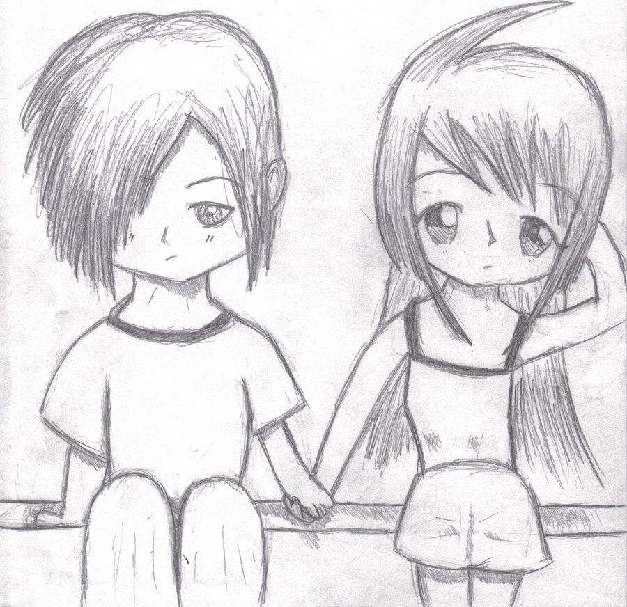 Animation · drawings of anime people couple holding hands by kaylatheninja