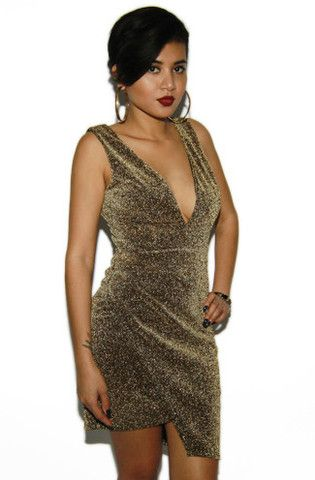 Gold Sparkly Sheath Cocktail Dress | Sweetrebelboutique.com #sparkly ...
