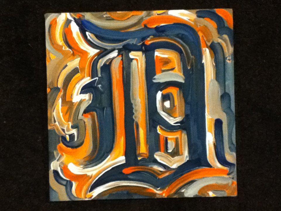 Detroit Tigers Painting by Justin Patten Sports Art Baseball. $40.00, via Etsy.