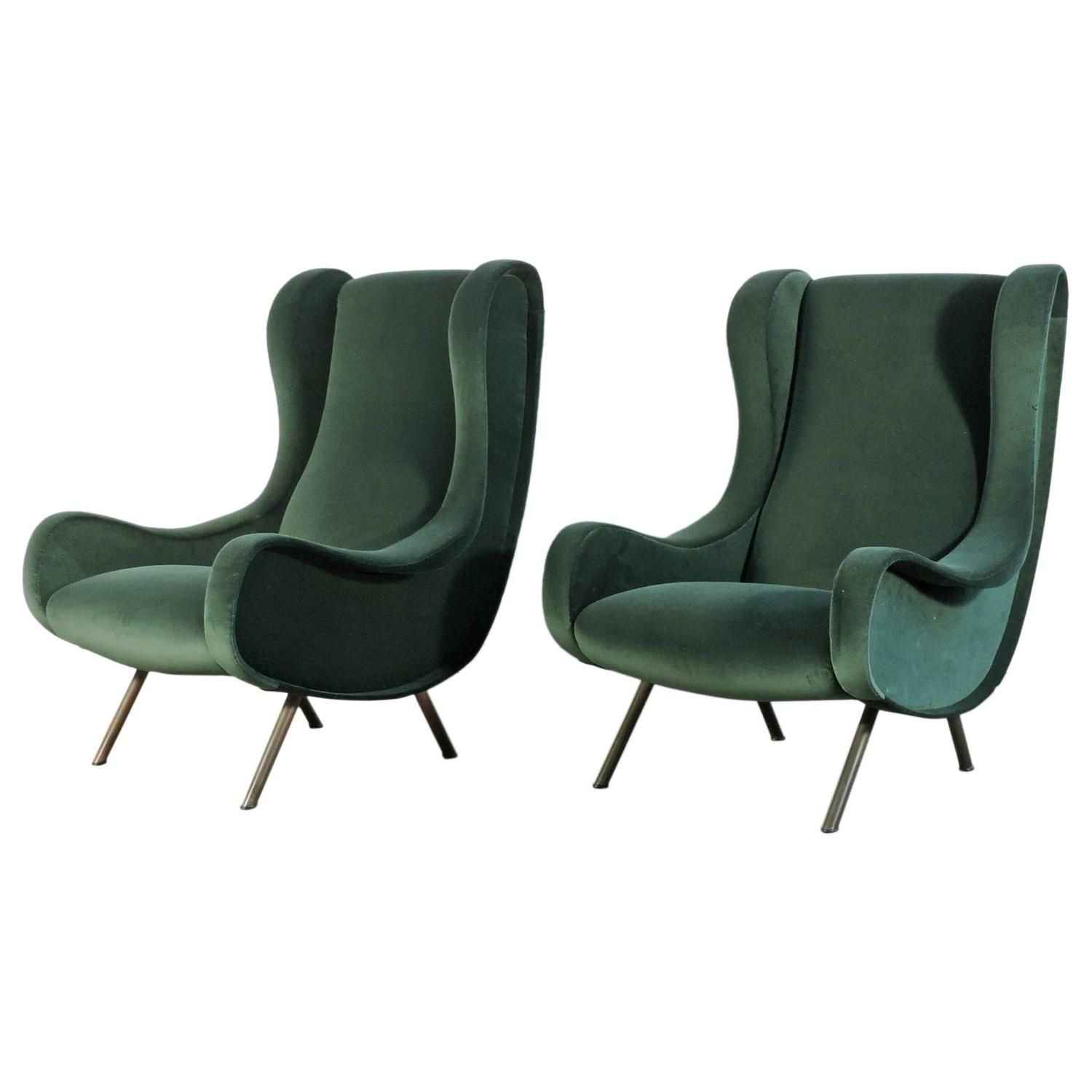Marco Zanuso Senior Pair Of Armchairs From A Unique Collection