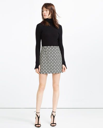 7db439a9 JACQUARD MINI SKIRT-View All-SKIRTS-WOMAN | ZARA United States ...