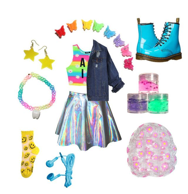 """""""bubble princess"""" by dinosawus21 ❤ liked on Polyvore featuring Dimepiece, Retrò and Dr. Martens"""