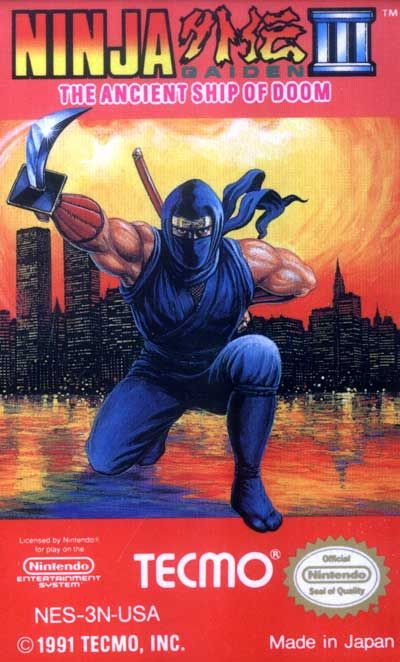 Ninja Gaiden Iii The Ancient Ship Of Doom Label Or Box Art