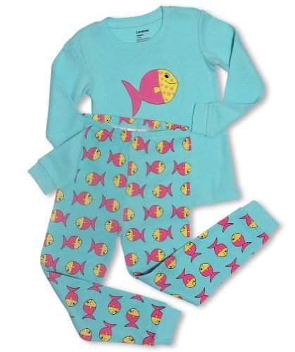 """Leveret """"Colorful Fish"""" 2 Piece Pajama set -12-18M - http://www.discoverbaby.com/maternity-clothes/sleepwear/leveret-colorful-fish-2-piece-pajama-set-12-18m/"""