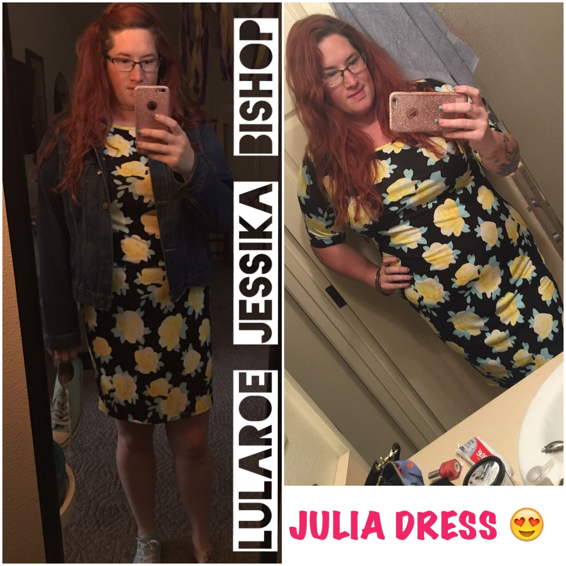 LOVE, LOVE, LOVEEEE LULAROE JULIA    Julia is made from the most comfortable T-Shirt material. She hugs all the right curves and is flattering on EVERYONE!!     LuLaRoe Jessika Bishop