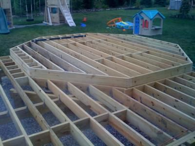 Octagon deck framing google search deck patio rehab for Octagon deck plans