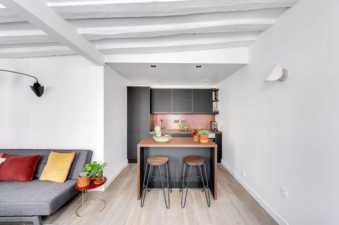 Appartement Versailles 40 M2 A La Deco Branchee Amenagement Petit Espace Deco Petit Appartement Amenagement Appartement