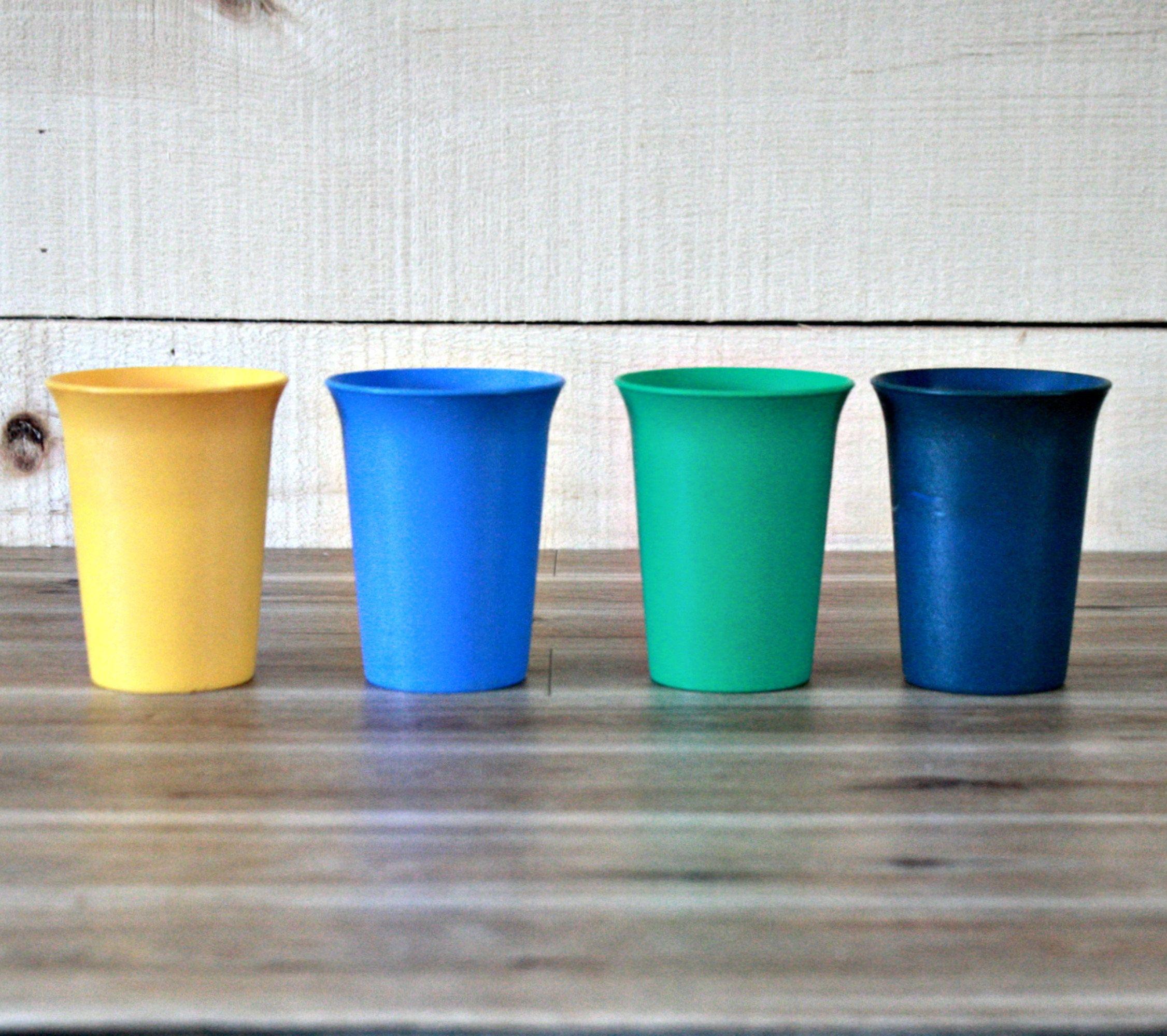 Lots De 4 Verres Plastique Tupperware Verre Enfant Verre  # Atlas Plastique