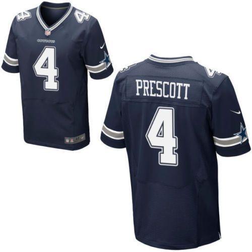 new style bc2ba 11735 Mens Dak Prescott Dallas Cowboys Jersey #4 Navy Blue ...