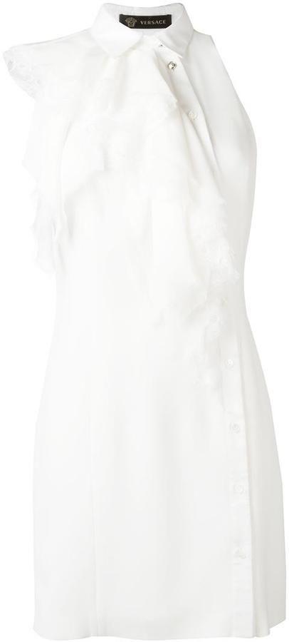 Versace asymmetric flounce dress