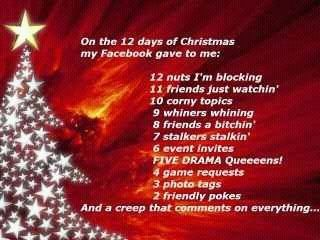 12 days of christmas my fb gave to me