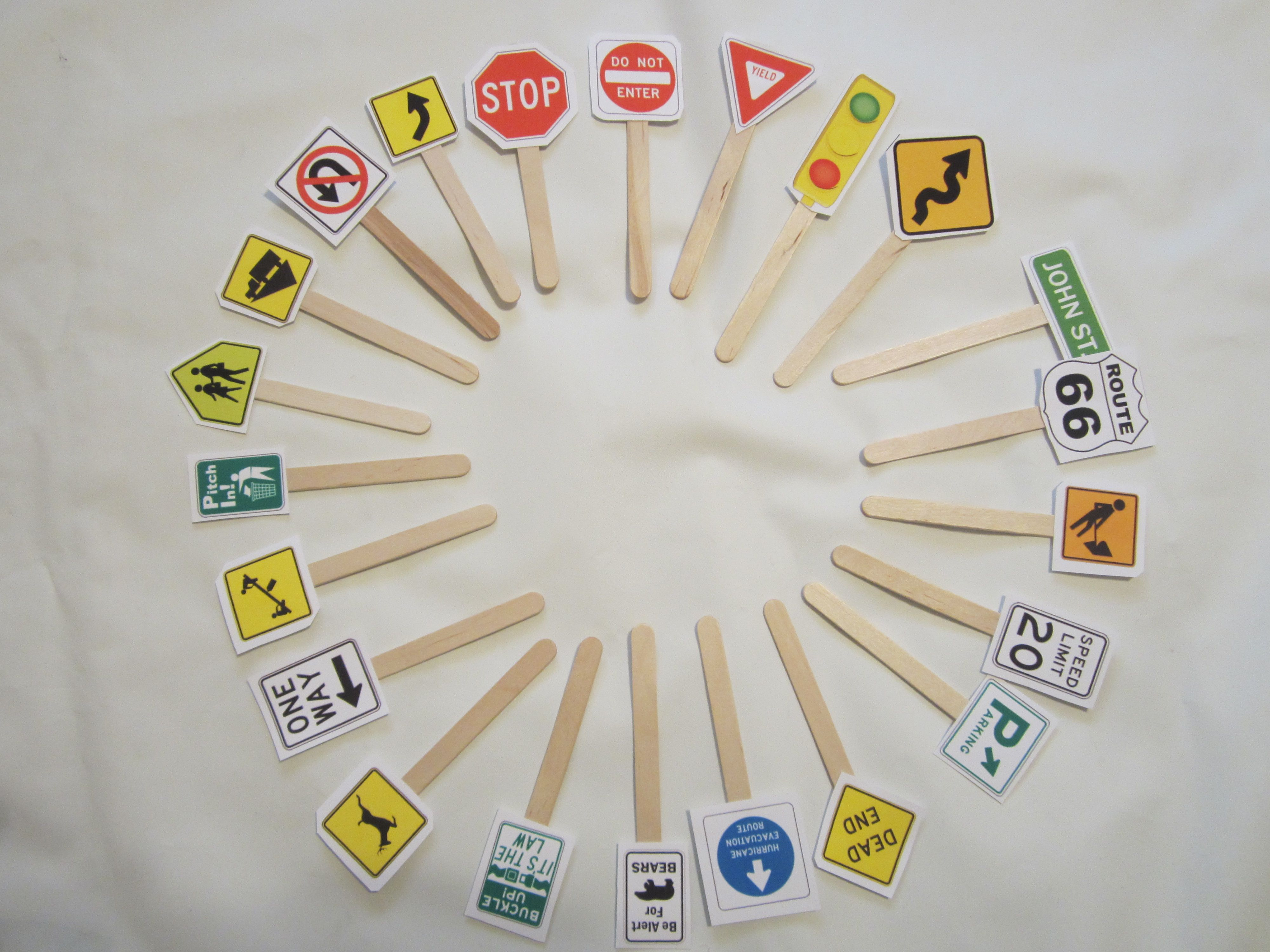 Road Sign For Kids Daybydaycreationspot