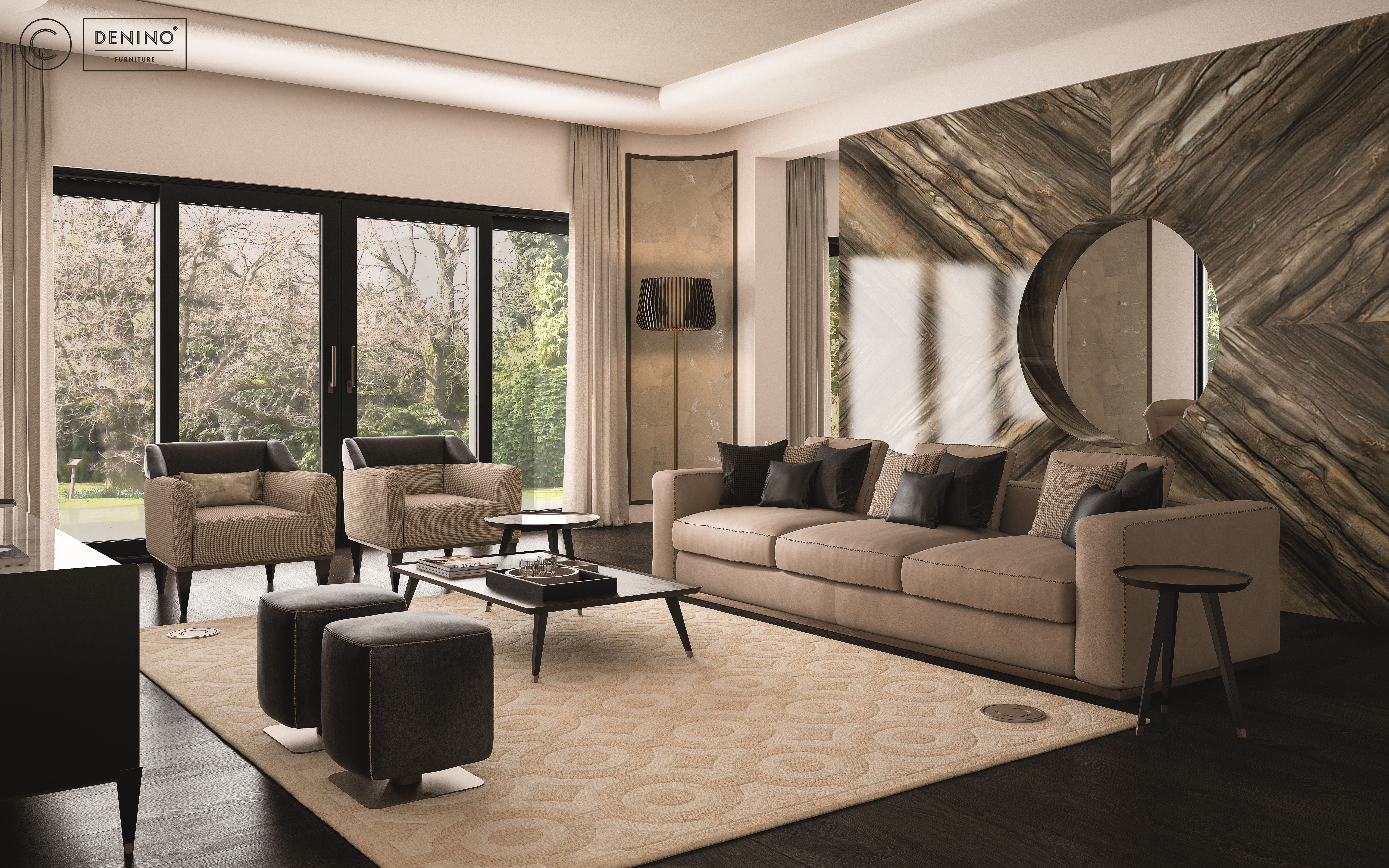 Cipriani homood x denino furniture living room interior design fantastic high end detail furniture