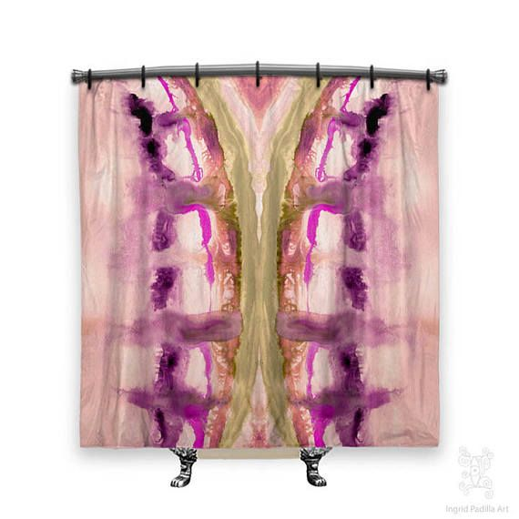 Boho Shower Curtain Shower Curtain Hippie Shower Curtain Shower