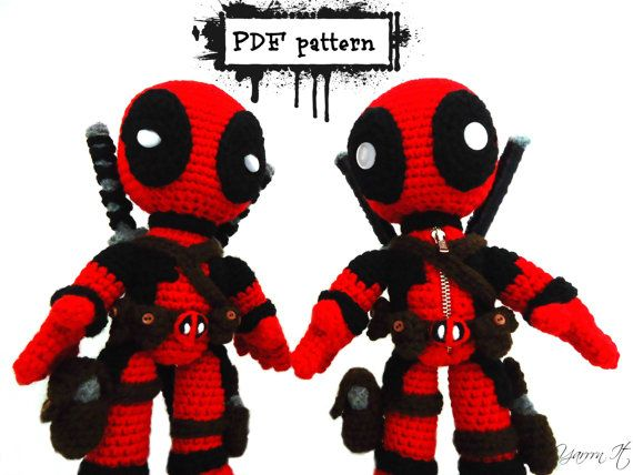 New Deadpool Inspired crochet doll two versions one by YarrrnIt ...