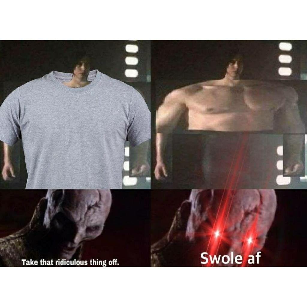 Ben Swolo Meme Kylo Ren Shirtless Star Wars Humor Star Wars Memes Star Wars Jokes