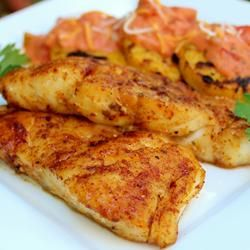 Grilled cod with cajun spice i love it for Grilled cod fish recipe