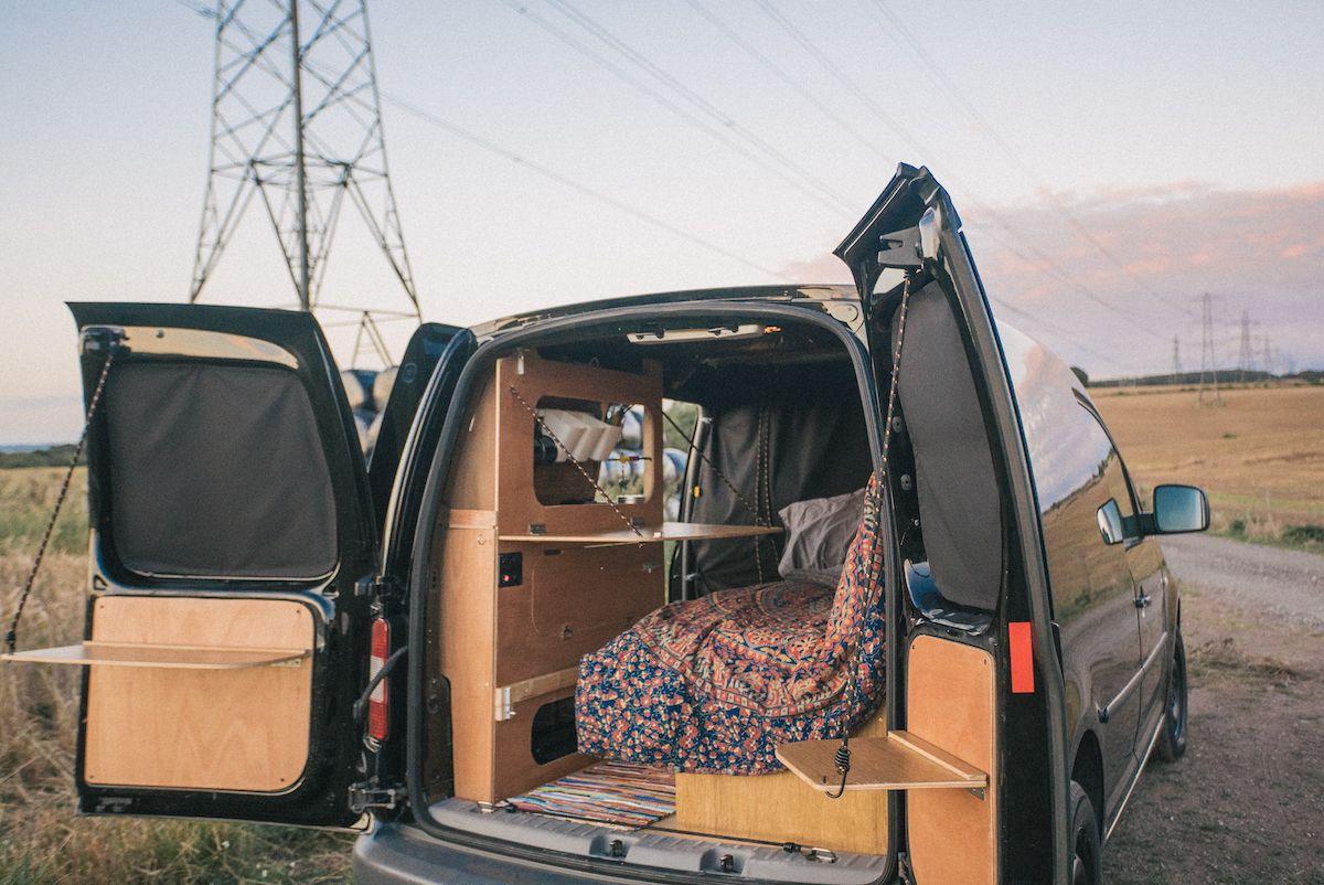 vw caddy camper conversion dirtbag van dreams. Black Bedroom Furniture Sets. Home Design Ideas