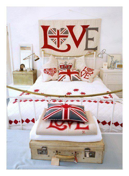 Englishbedroom Union Jack Decor Union Jack Bedroom London Bedroom