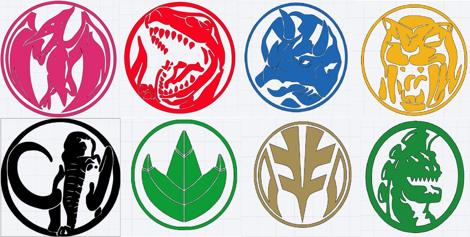 Mighty Morphin Power Ranger logo decals by ...