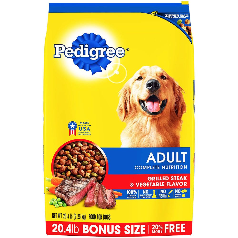 Pedigree Adult Dry Dog Food Grilled Steak Vegetable Flavor
